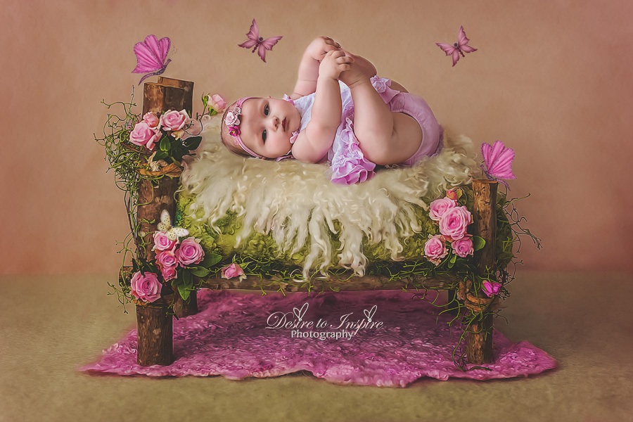 Brisbane Newborn Painted Digital Artwork-1