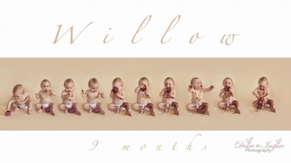 Baby milestone photography 5 of 5